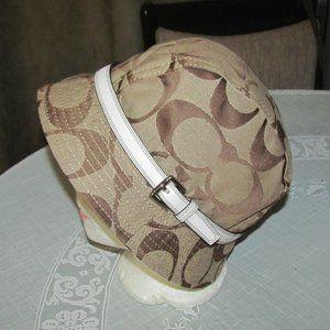 Coach Signature Fedora Hat Size M L NEW Buckle